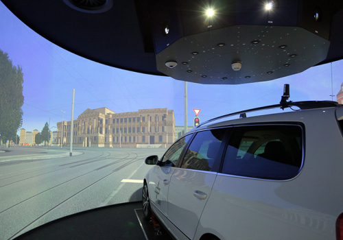 DLR - VR LAB - 360° Hi-res Cylindrical Projection For Driver Assistance System Testing W. FASCar