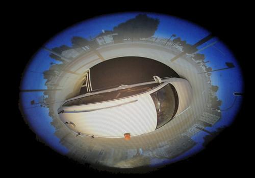 DLR - VR LAB - 360° Hi-res Zylinderprojektion Mit VW FASCar Zur Evaluation Von Fahrerassistenzsystemen