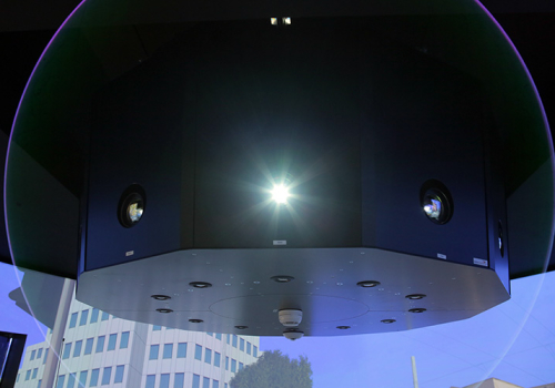 DLR - VR LAB - 360° Hi-res Cylindrical Projection For Driver Assistance System Testing