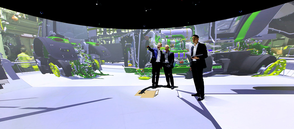 Fraunhofer IFF Elbe-Dome 2.0 - 360° 3D Stereo Mixed-Reality Labor