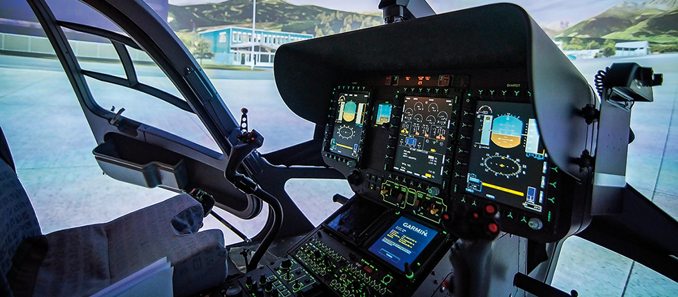 Level D FFS Simulator For ADAC HEMS H145 Helicopter - Reiser Simulation And Training