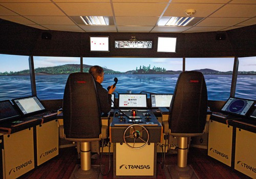 Schiffsbrückensimulator Für Fischfang