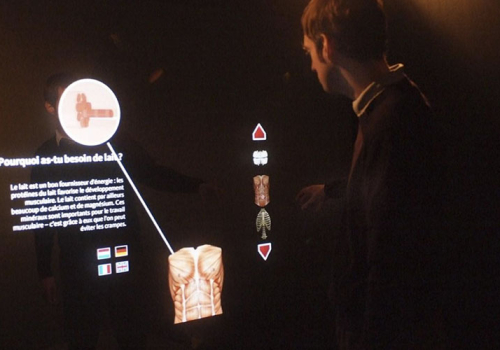 Interactive  Exhibits For Vitarium Luxlait