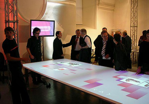 Multitouch Table For Designforum MQ, Vienna