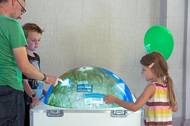 Multitouchglobe For Travelling Exhibition INNOspaceExpo