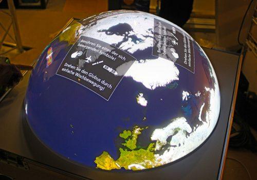 "Multitouchglobe For Travelling Exhibition INNOspaceExpo ""ALL.täglich!"""