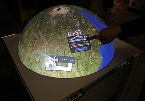 Multitouchglobe With Satellite-controlled Aircraft Guidance Game