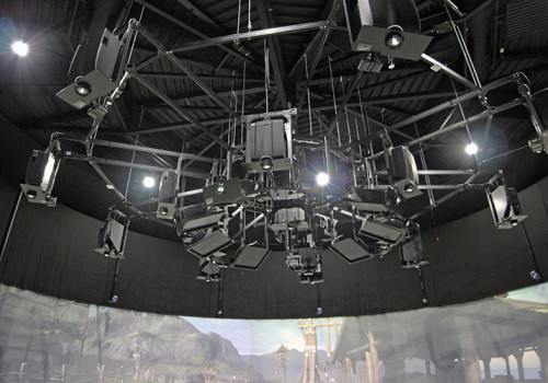 Fraunhofer IFF Magdeburg, Elbe Dome 2.0 360° Mixed Reality Lab 3D Projection Rig